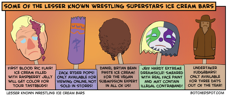 Lesser Known Wrestling Ice Cream Bars