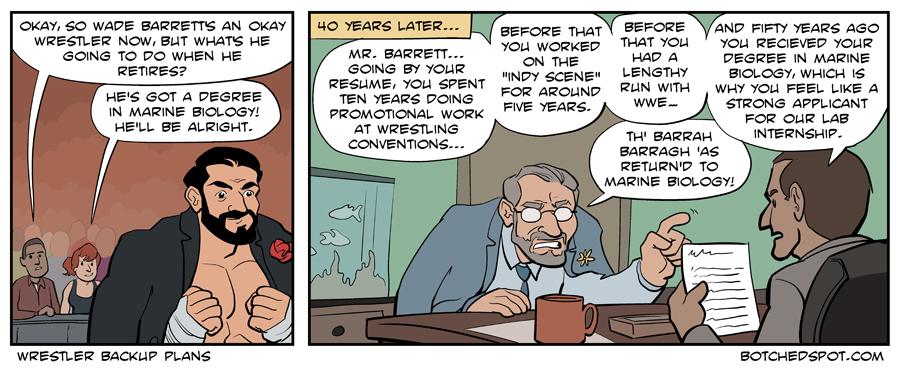 Wrestler Backup Plans