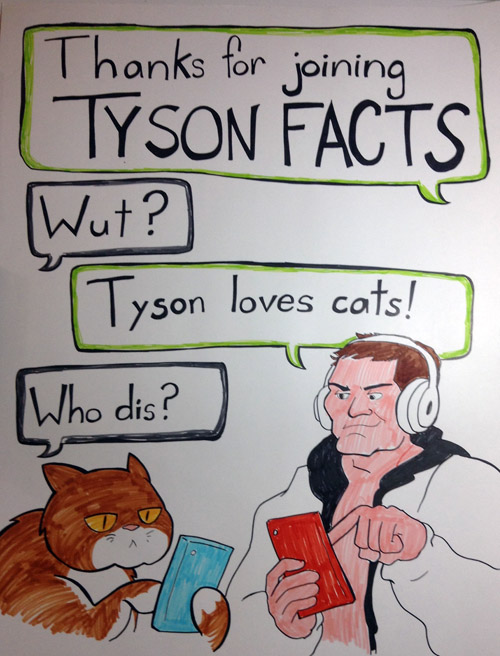 My Sign for Survivor Series. I know, Tyson's not even booked, but if he shows up, I'll be ready.