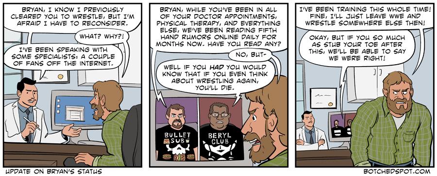 Update on Bryan's Status