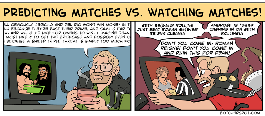 Predicting Matches vs. Watching Matches