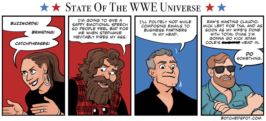 """State of the WWE Universe"" by BotchedSpot.com"