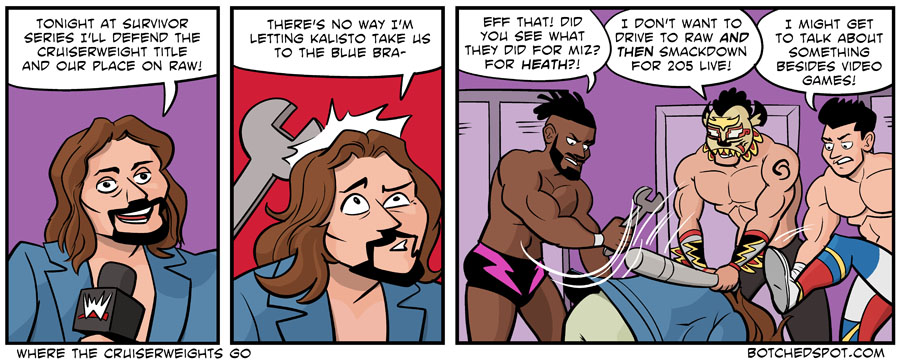 """Where the Cruiserweights Go"" by BotchedSpot.com"