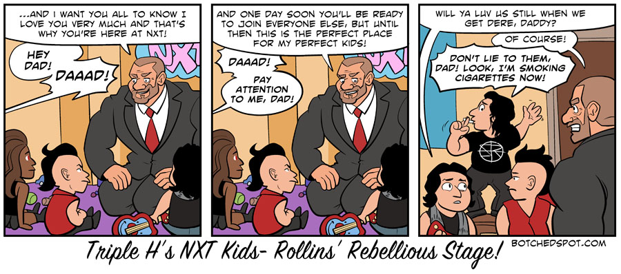 Triple H's NXT Kids- Rollins' Rebellious Stage!