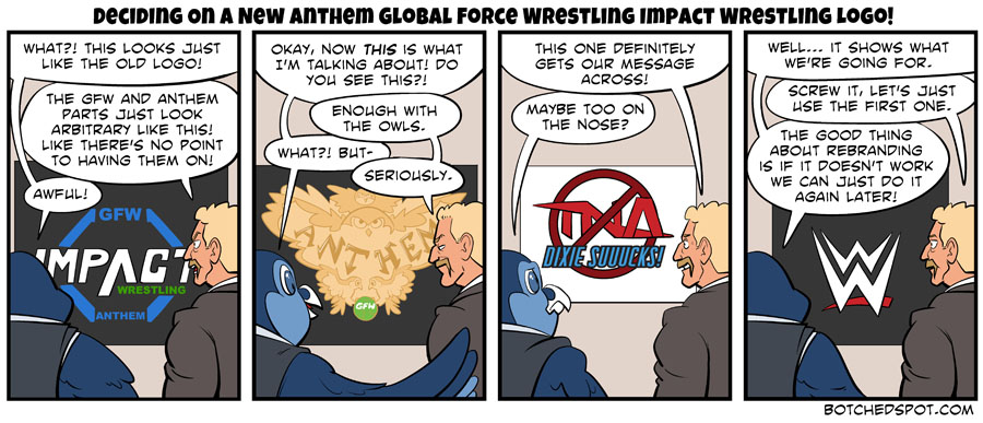 Deciding On A New Anthem Global Force Wrestling Impact Wrestling Logo!