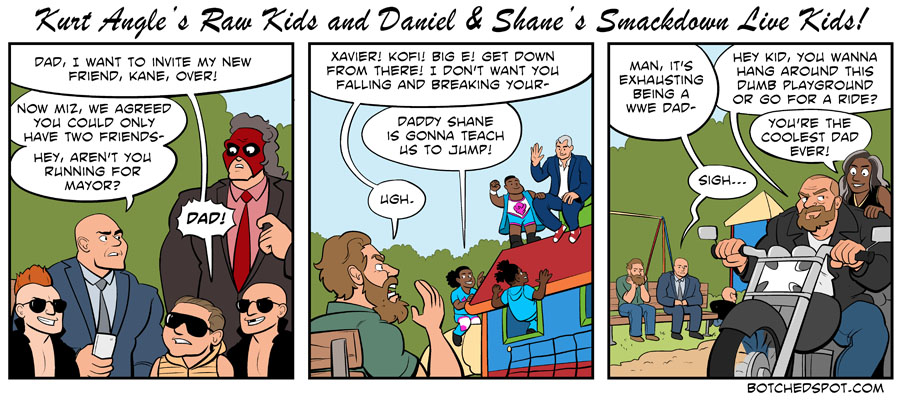 Kurt Angle's Raw Kids and Daniel & Shane's Smackdown Live Kids!