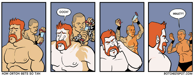 How Orton Gets So Tan