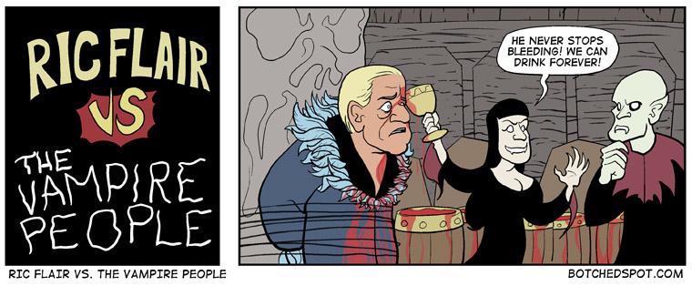 Ric Flair vs. The Vampire People