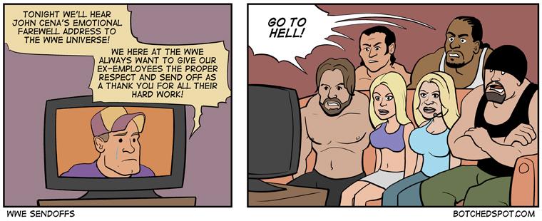 WWE Sendoffs