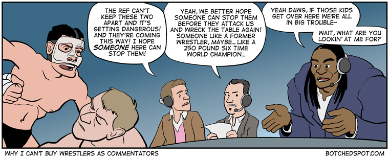 Why I Can't Buy Wrestlers as Commentators