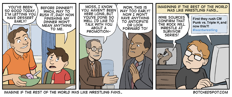 Imagining if the Rest of the World was like Wrestling Fans…