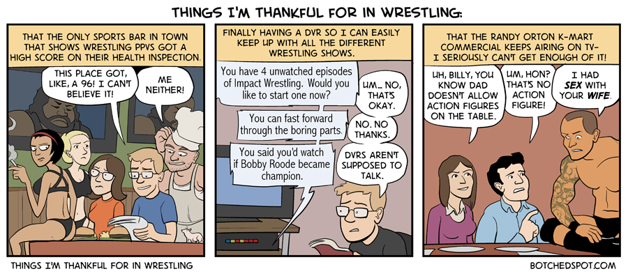 Things I'm Thankful for in Wrestling