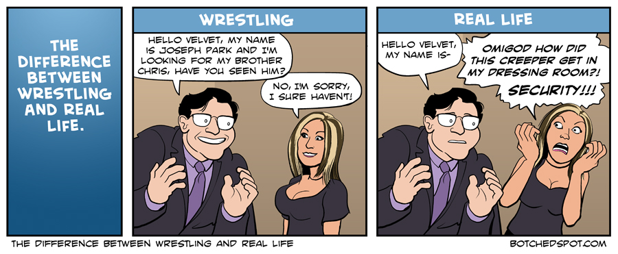 The Difference Between Wrestling and Real Life