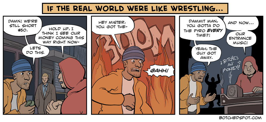 If the Real World Were Like Wrestling (featuring muggers!)