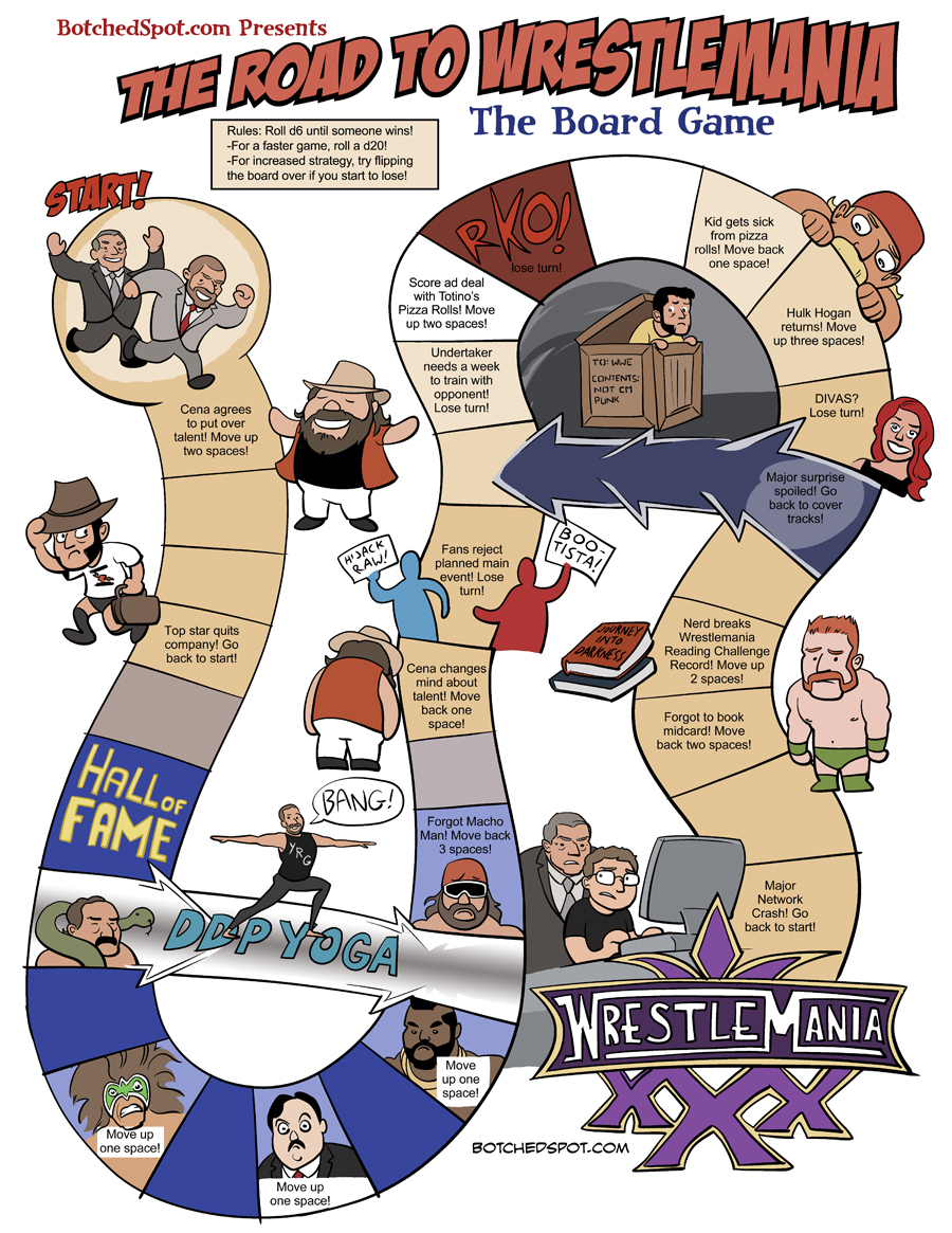 The Road to Wrestlemania- The Board Game!