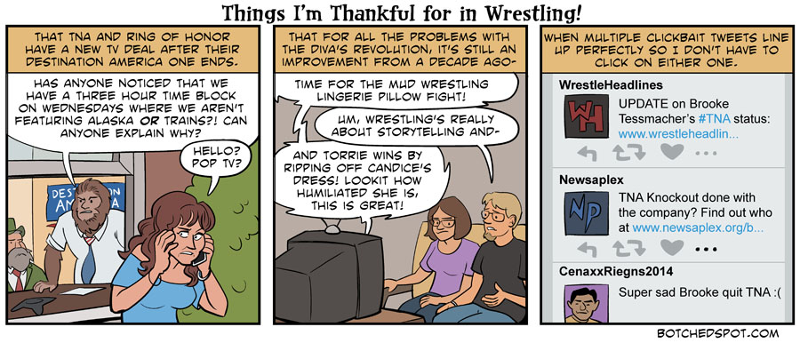 Things I'm Thankful for in Wrestling!