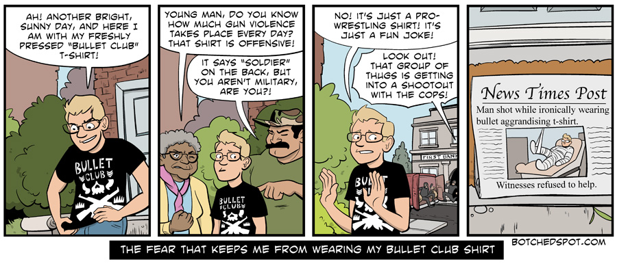 The Fear That Keeps Me From Wearing my Bullet Club Shirt