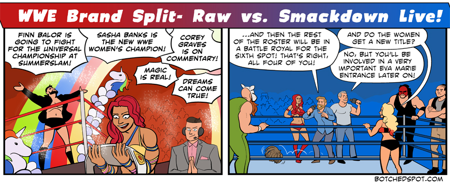 WWE Brand Split- Raw vs. Smackdown