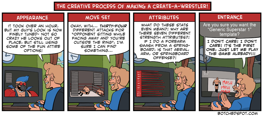 The Creative Process of Making a Create-A-Wrestler!
