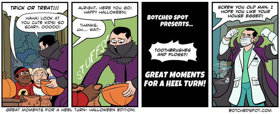 Great Moments for a Heel Turn- Halloween Edition!
