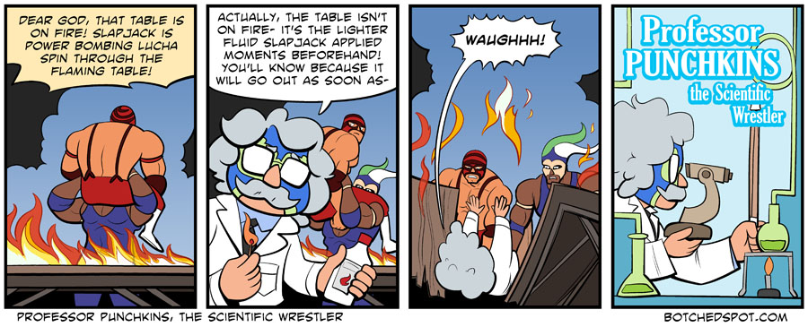 Professor Punchkins, the Scientific Wrestler!