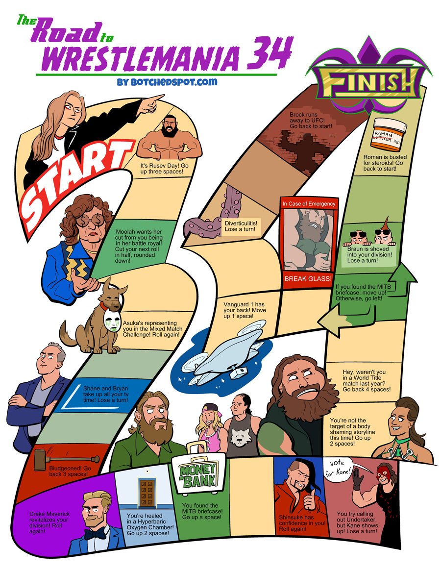 The Road to Wrestlemania 34- The Board Game!