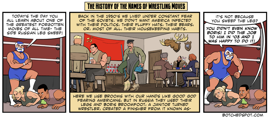 The History of the Names of Wrestling Moves- The Side Russian Leg Sweep