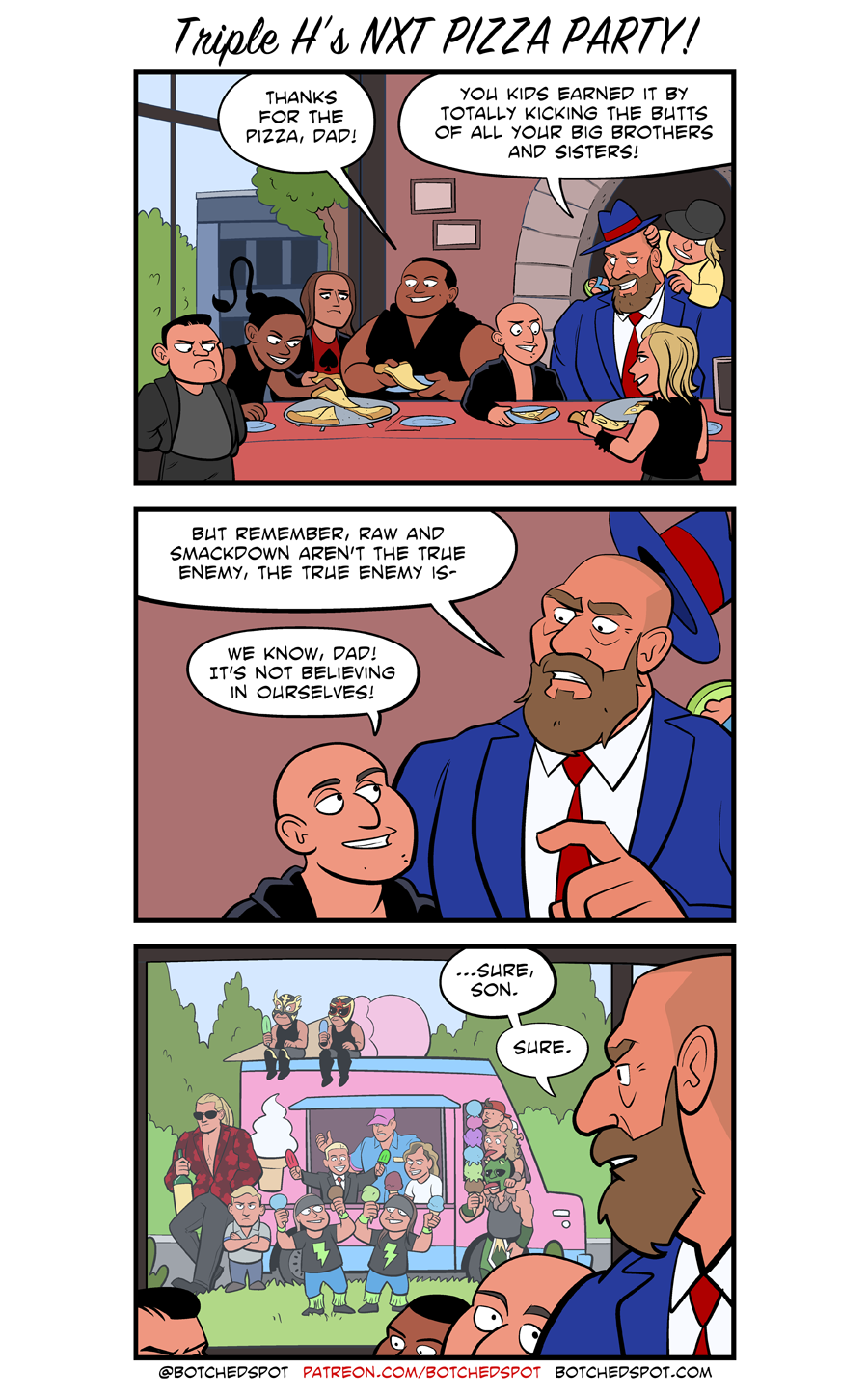 Triple H's NXT Pizza Party